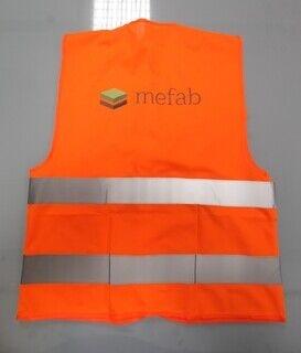 Logoga helkurvest - Mefab