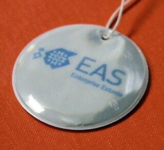 EAS helkurid koos trükitud logiga.