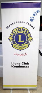 Roll-Up 850x2000 mm Lions Club Keminmaa