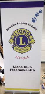 Klassinen Roll-Up Lions Club Floorankenttä