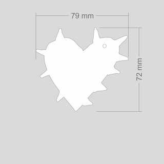 Helkur okastega süda 79x72mm